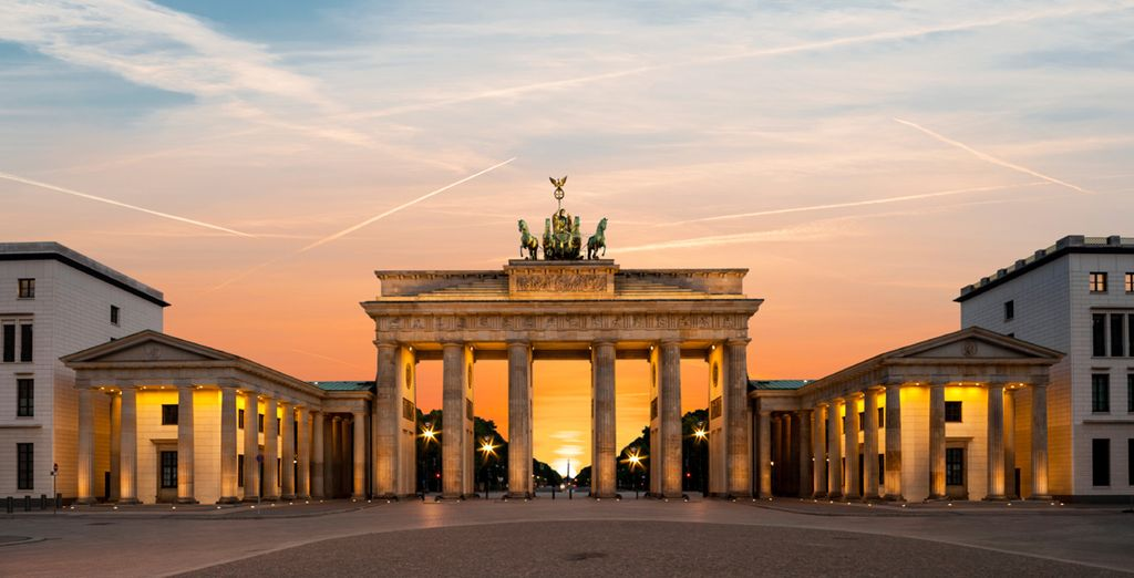 Visit iconic sights such as the Brandenburg Gate