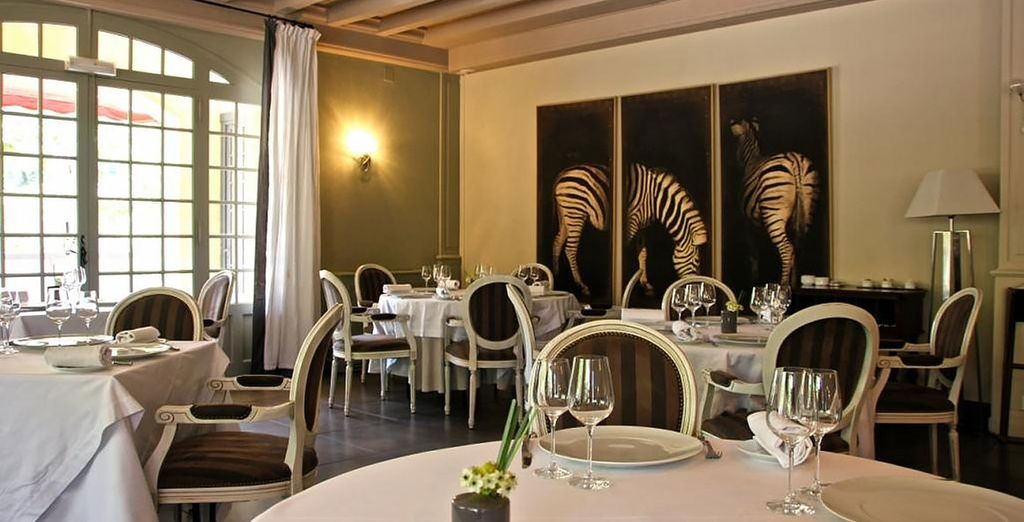 Savour the French cuisine in a sophisticated setting
