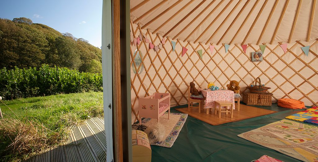 And a playroom in a yurt!