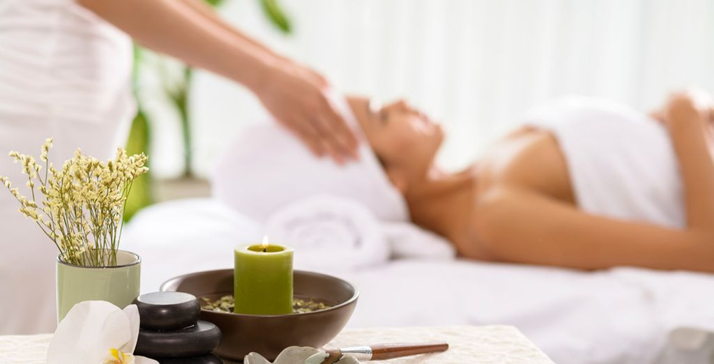 Relish your complimentary spa sessions