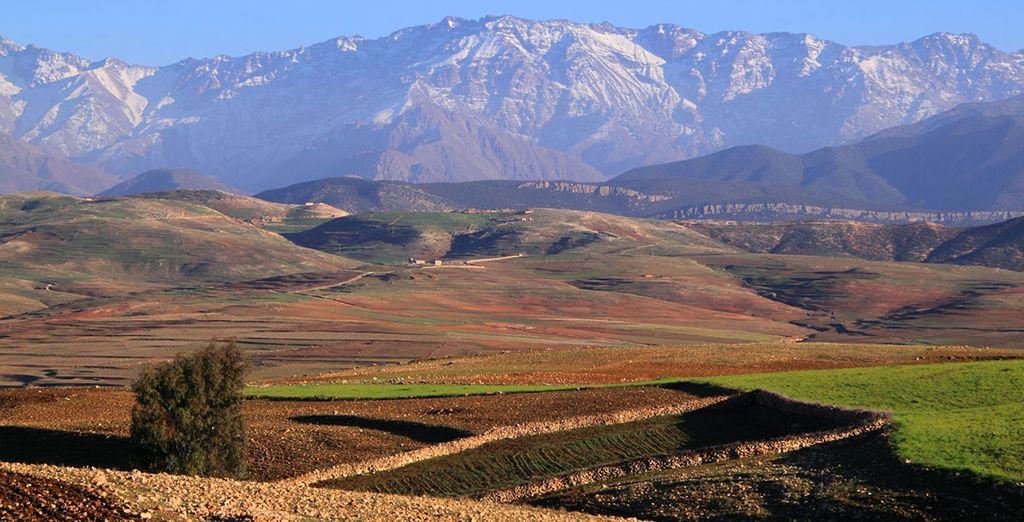 Facing the breathtaking Atlas Mountains