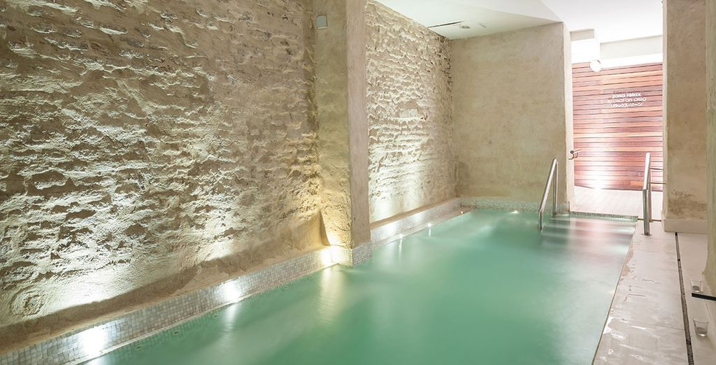 Dip into the indoor pool for the ultimate break