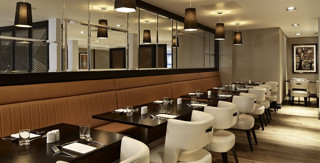 Enjoy your breakfast in the  hotel's modern dining room