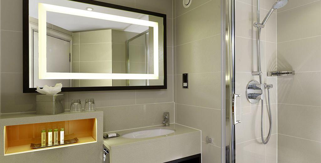 Complete with stylish modern bathroom