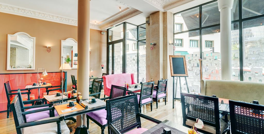 Dine in stylish surroundings
