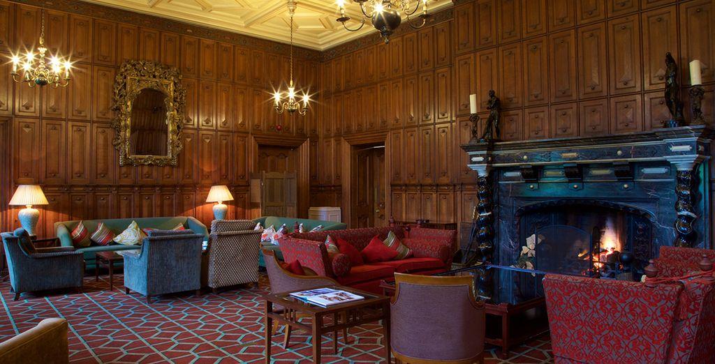 Interiors are grand yet inviting...