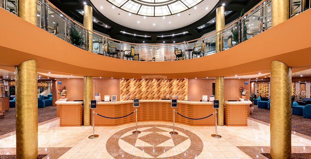 Then board the MSC Armonia: this grand ship oozes Italian style