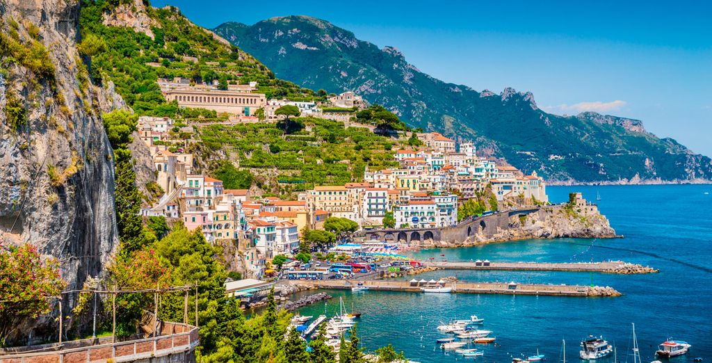But first you'll spend 2 nights on the sun kissed shores of Sorrento