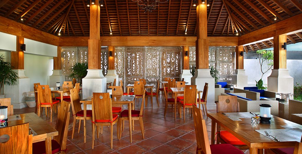 Or go for a meal at the resort's restaurant