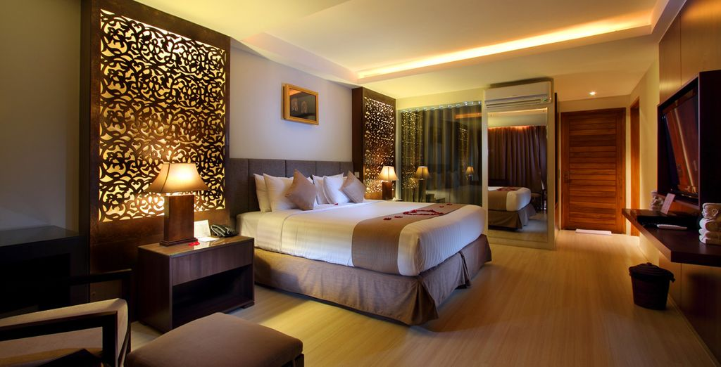 And luxuriate in your room in total comfort