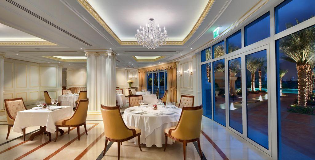 Enjoy your meals amongst grand decor