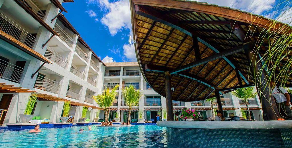 A stunning modern resort...