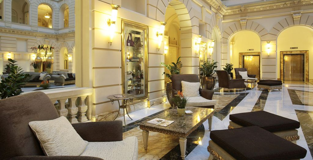 Chill out amongst the elegant interiors and feel like royalty