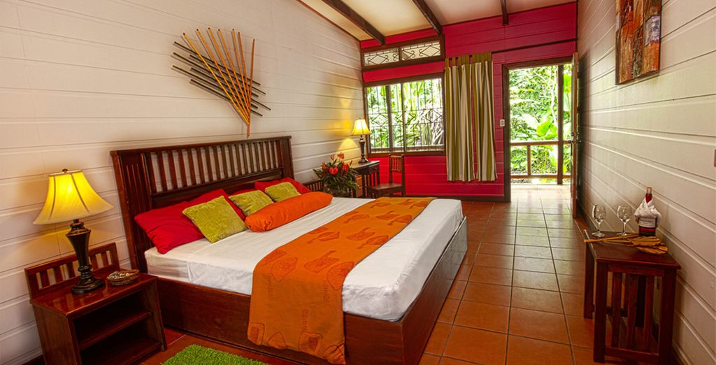 So you can be assured of a restful night after the day's adventures (Pachira Lodge)