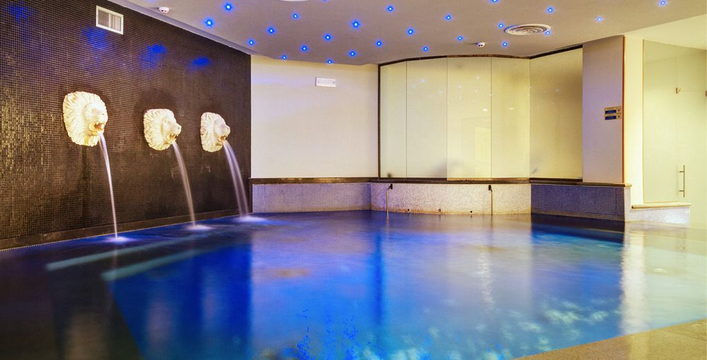 Or escape the heat at the spa