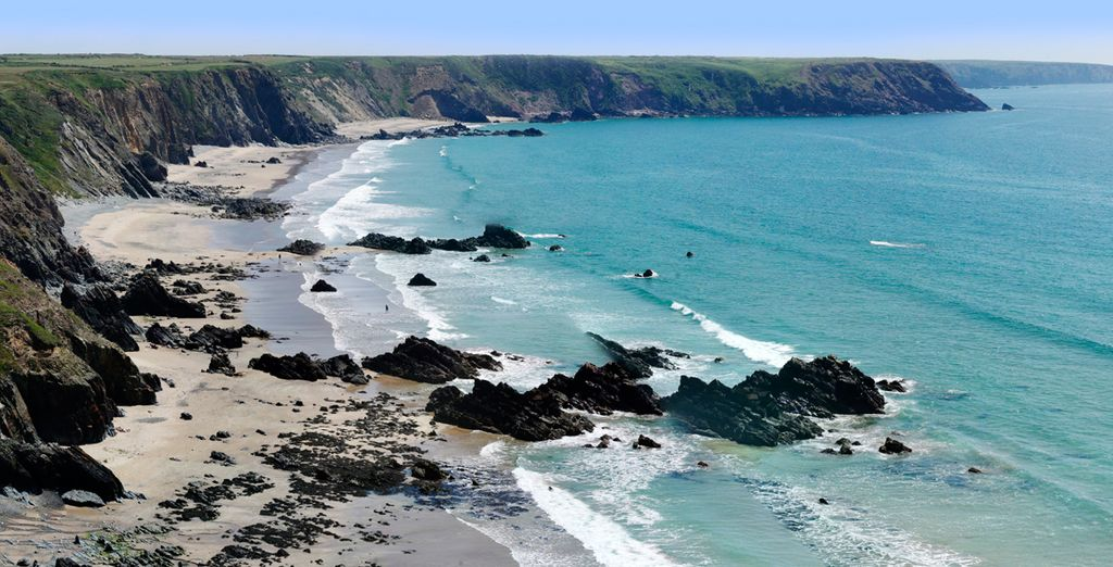 Take in Pembrokeshire's dramatic coastline - a beautiful part of Wales