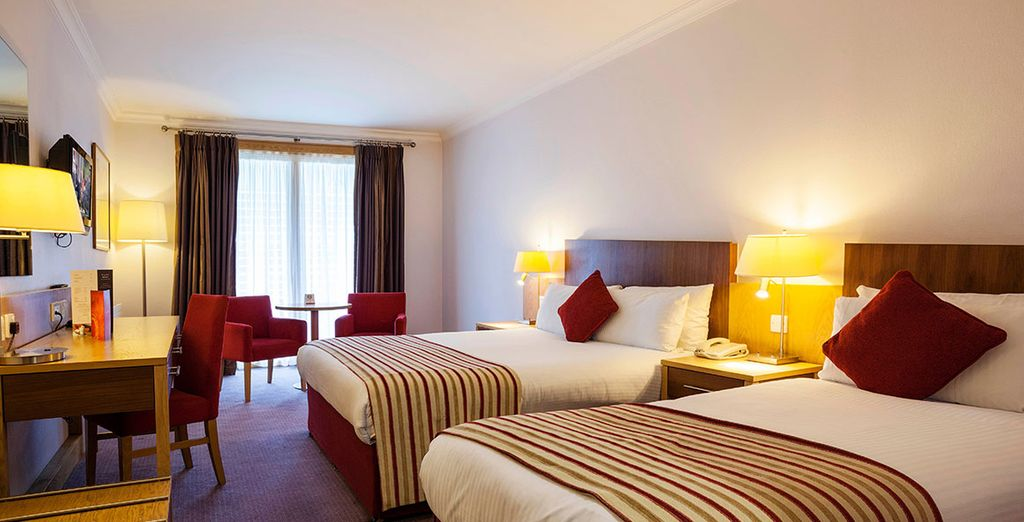Clayton Hotel Cardiff Lane bedrooms are contemporary with stylish décor ensuring a restful stay
