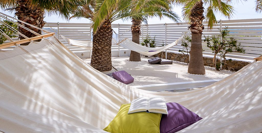 Then while away the afternoon in the ultra-comfy hammocks