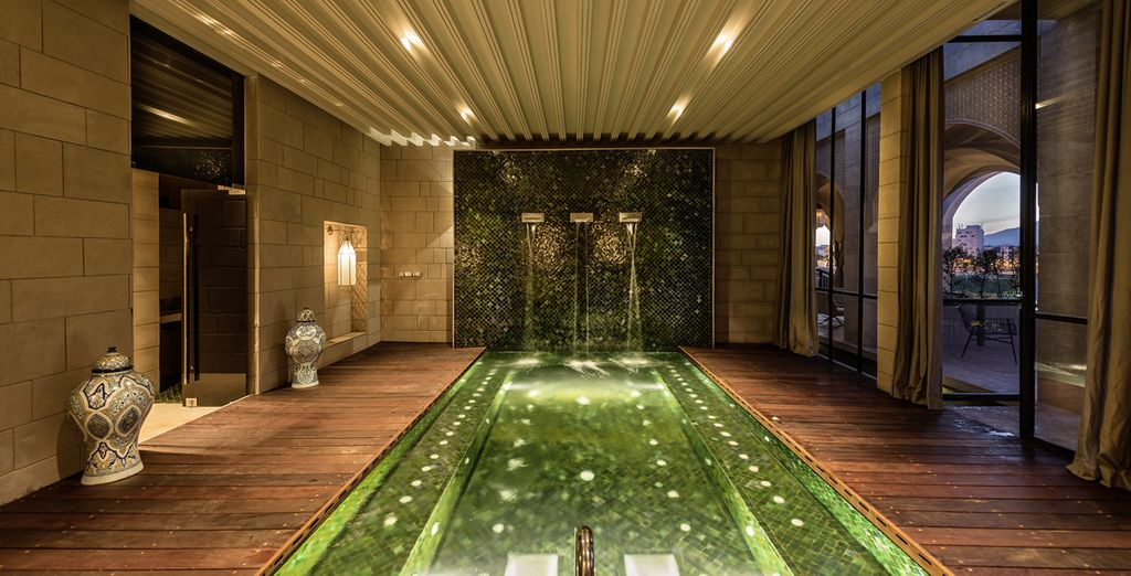 Soak in the Jacuzzi or traditional Hammam