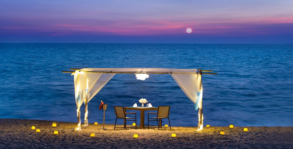 Or perhaps a romantic meal for two on the sands