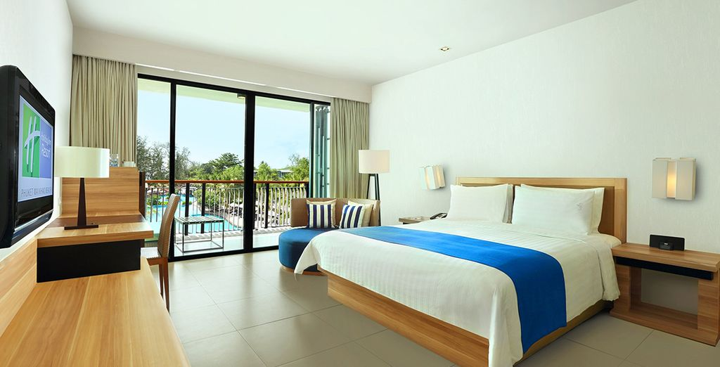 You will enjoy a stay here in an upgraded Deluxe Pool Facing Room