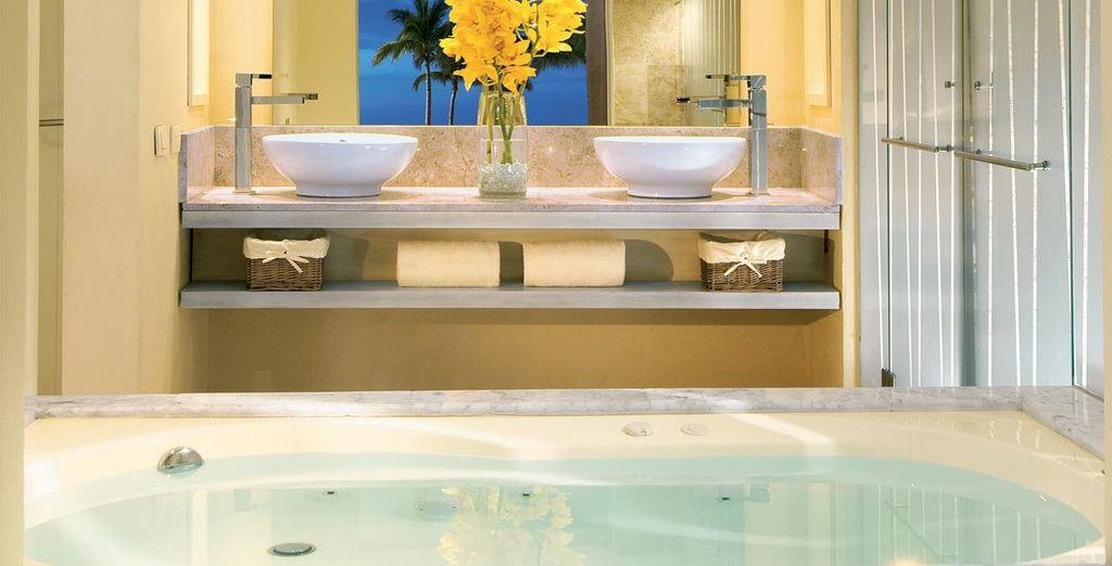 Enjoy the amenities in the fabulous ensuite bathroom
