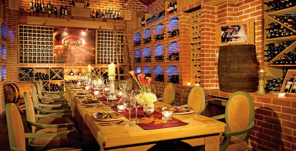 Dine at one of the numerous restaurants housed in the resort