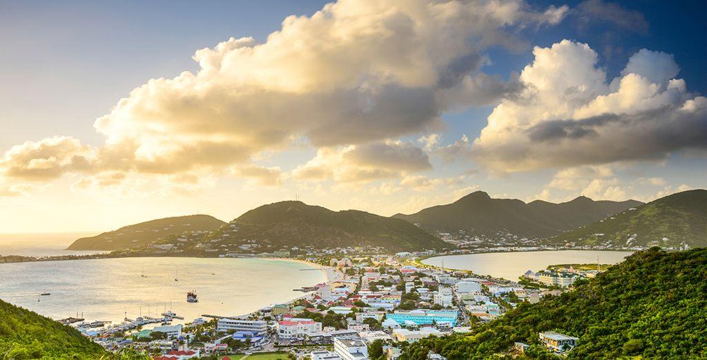 Flitting between sun-drenched islands (Pictured: St Maarten)