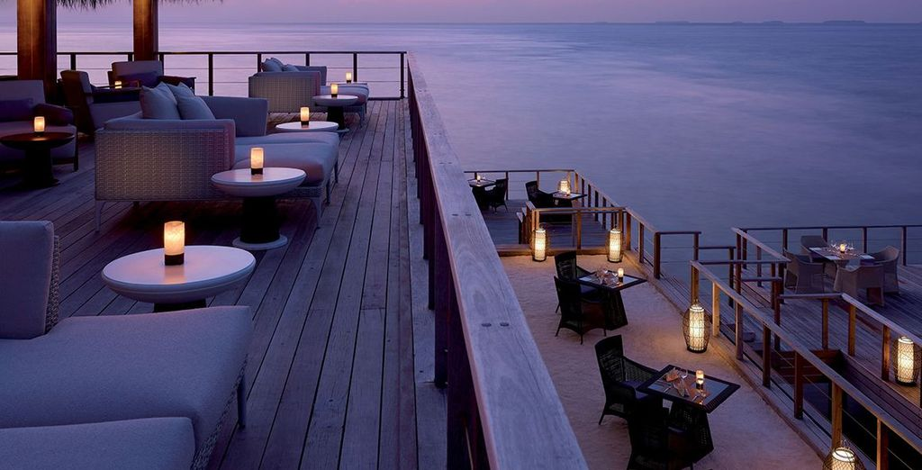 Take pleasure in the evening sky with a loved one over a drink or some delicious food