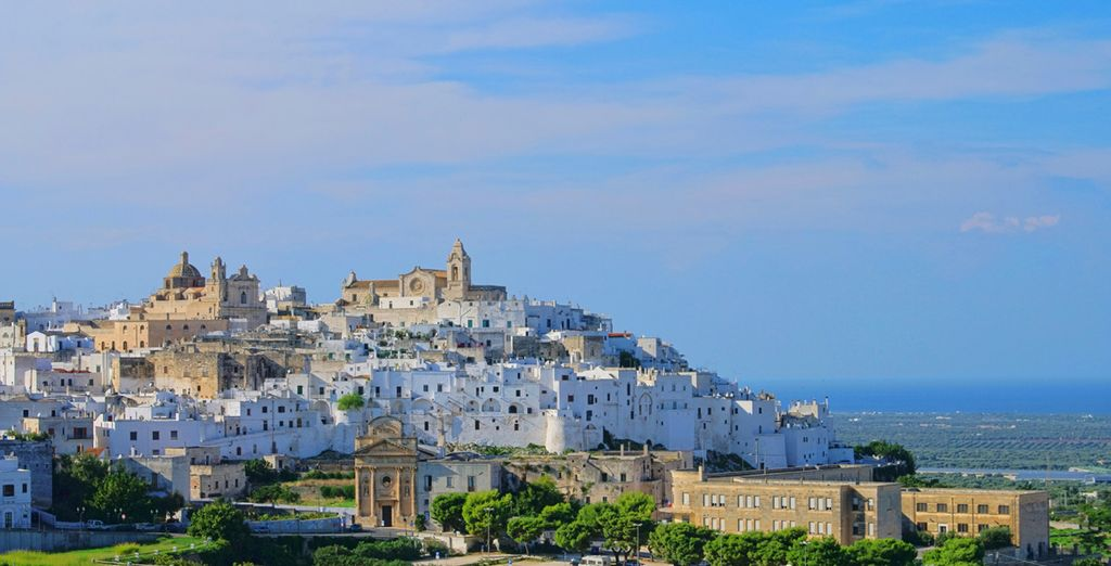The pearly white town of Ostuni awaits you - Grand Hotel Masseria Santa Lucia 4* Ostuni