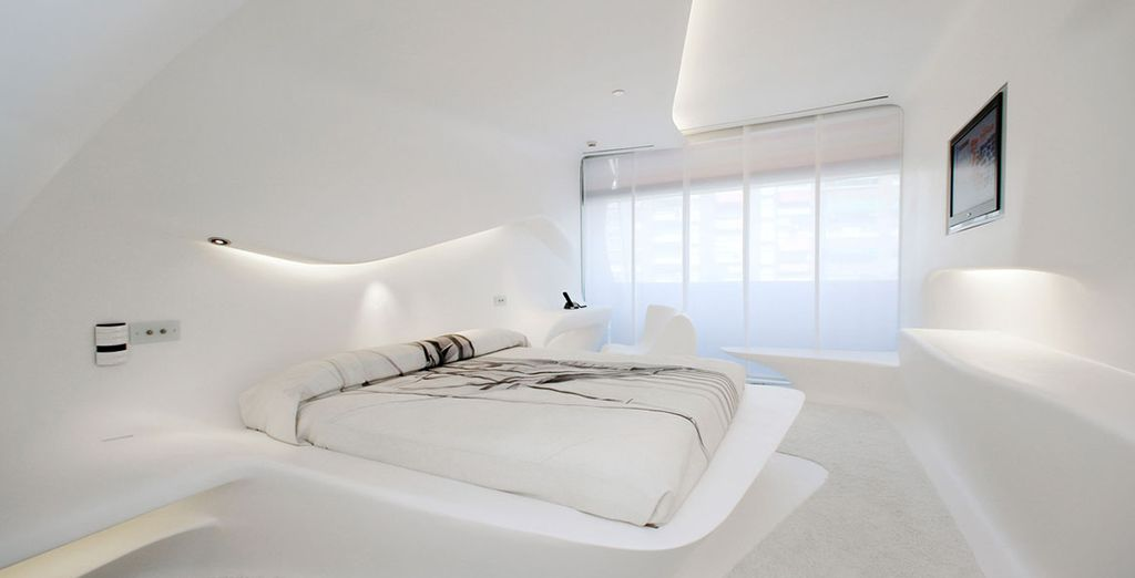 You may wish to upgrade to a  Space room by Zaha Hadid