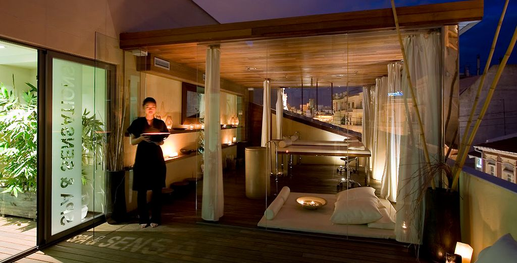 Which you enjoy in the unique rooftop spa