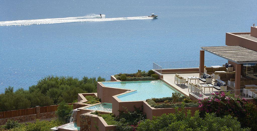 Overlooking Crete's exclusive Bay of Elounda