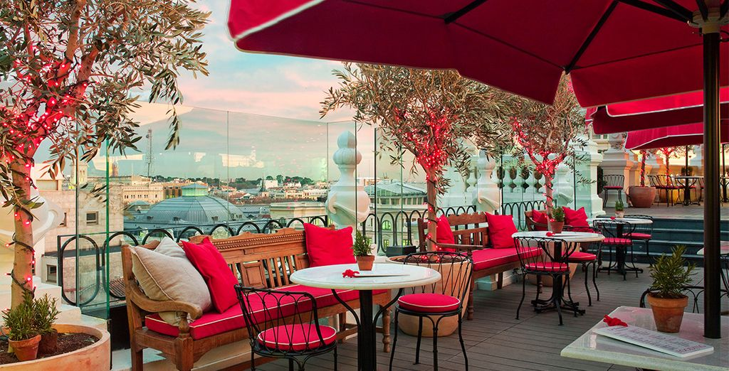 Discover panoramic views from the rooftop terrace