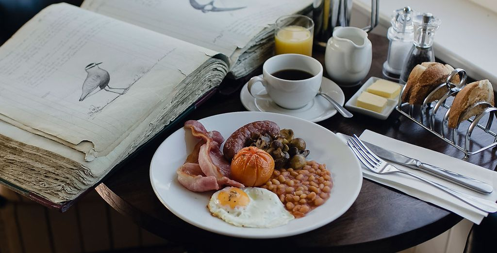 Enjoy daily breakfast and a 2 course dinner on your first night