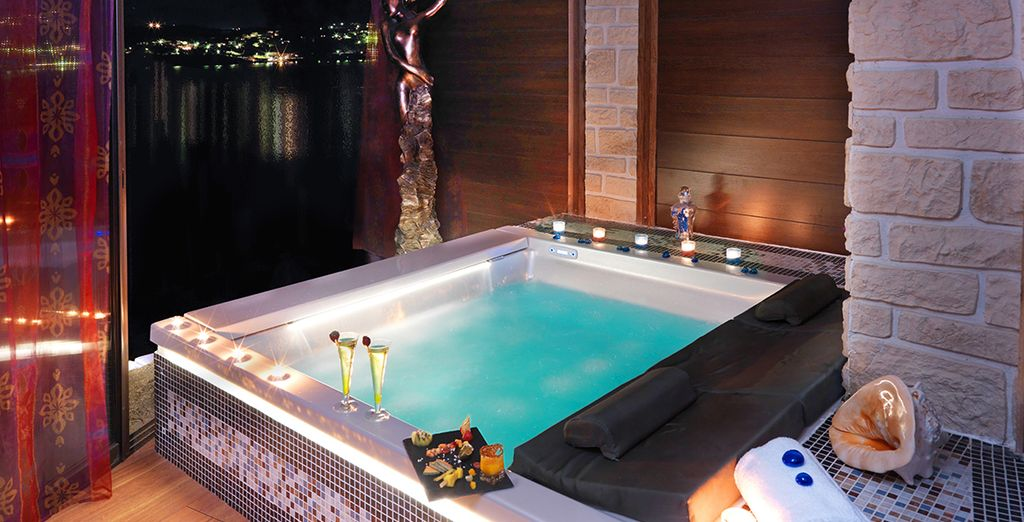Or a romantic hot tub session