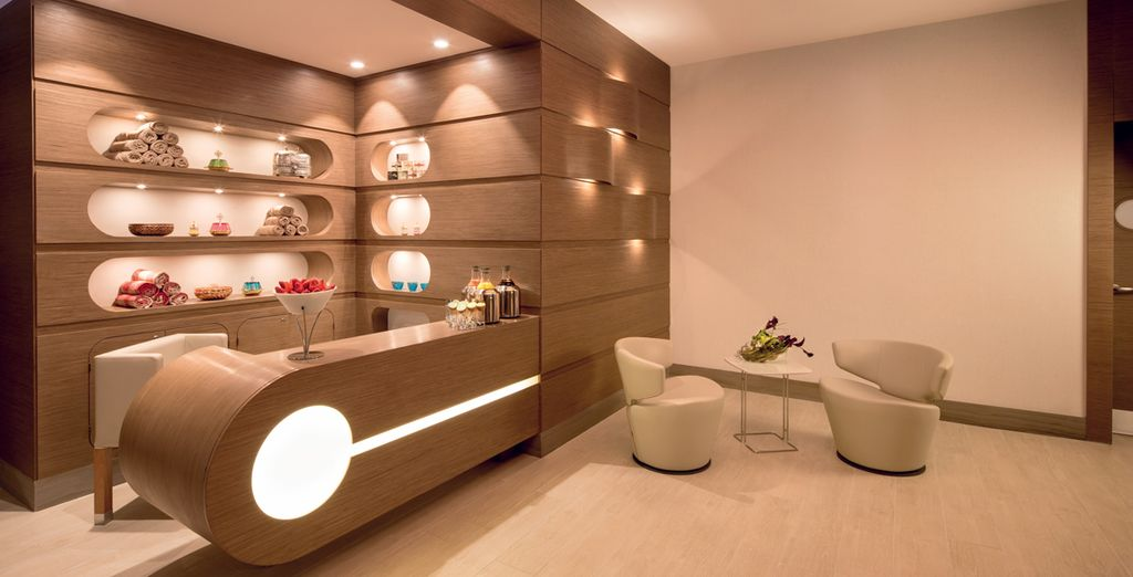 Indulge with a moment of relaxation in the spa