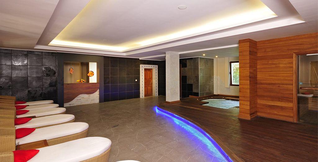 At the serene spa