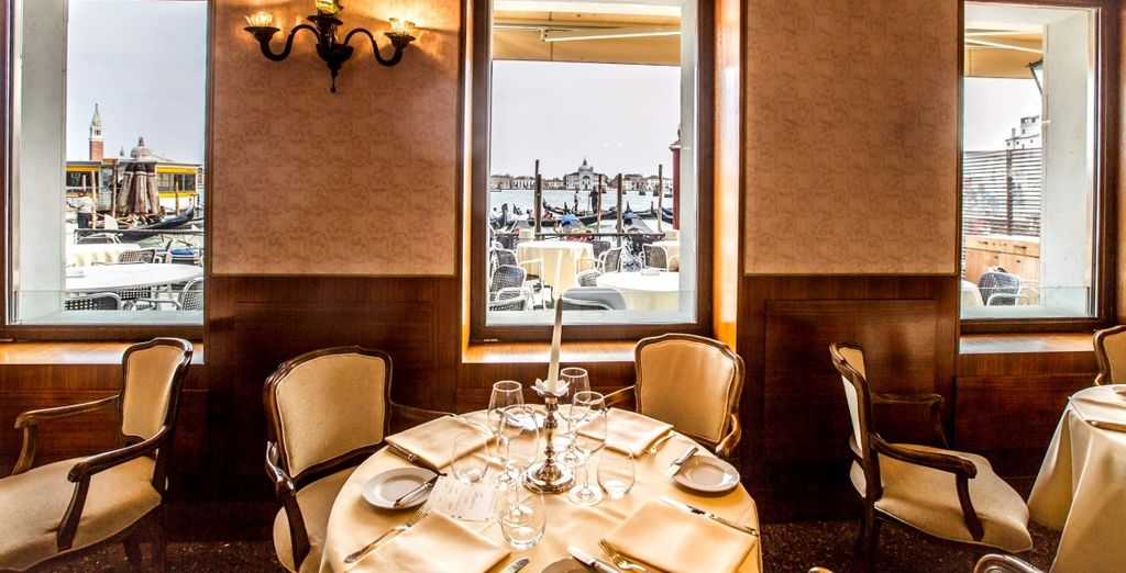 Dine overlooking Venice's famous sights