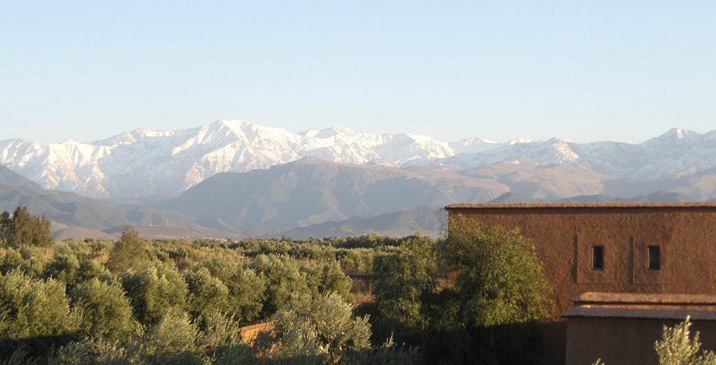 With amazing views of the Atlas Mountains
