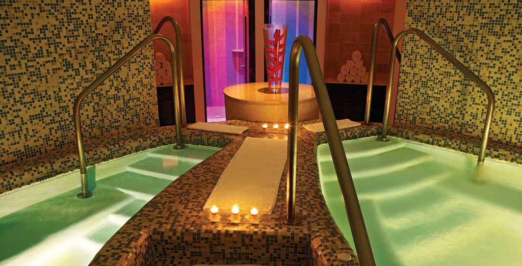 Visit the luxurious spa