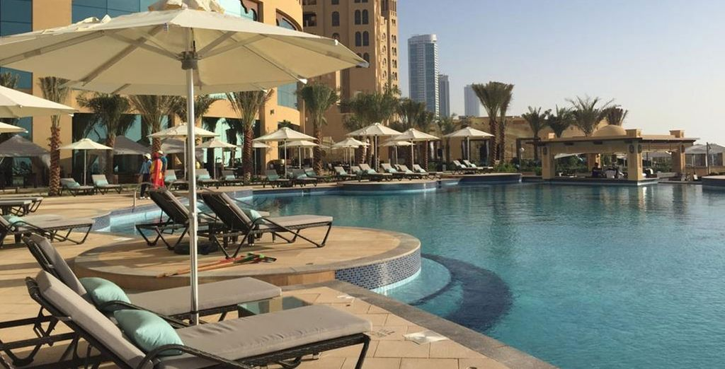 Relax by the pool under the UAE sun