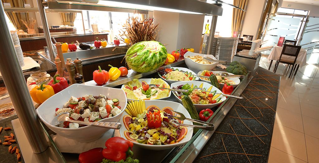 Tuck into the healthy and delicious Grecian food on offer