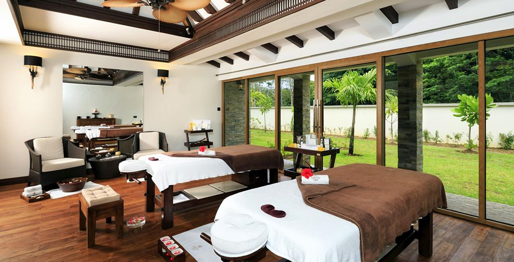 You may prefer to escape the heat of the day at the spa