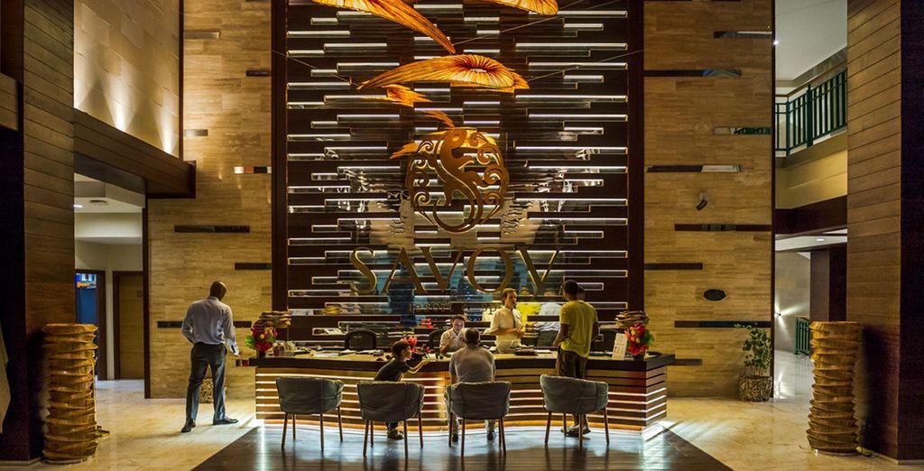 Step into luxury at this modern beachfront resort