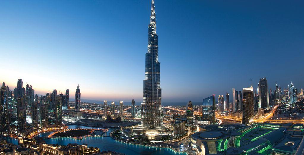 Visit extraordinary sites like the Burj Khalifa