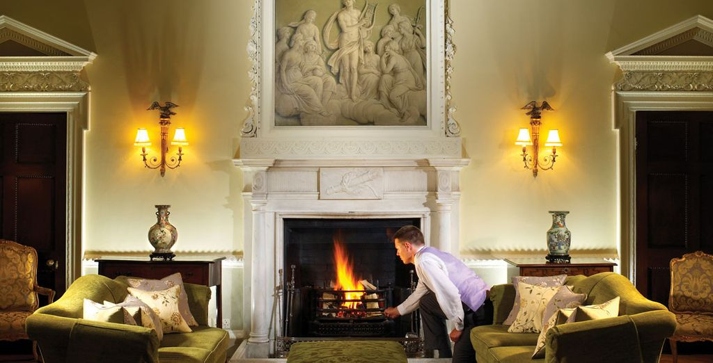 Then settle down in front of the roaring fire