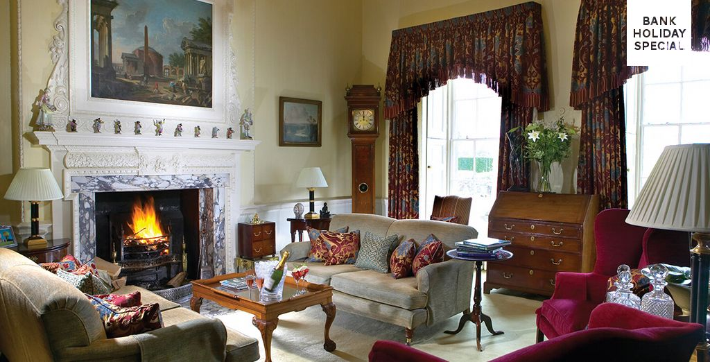 In a manor house exuding quintessential British character