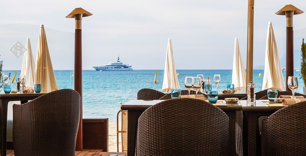 Tuck into a gourmet lunch overlooking the sea