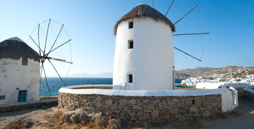 And of course the famous windmills